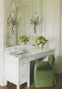 Green Vanity Table with Mirror