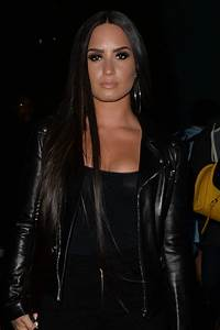 Demi Lovato Straight Dark Brown Extensions, Side Part ...