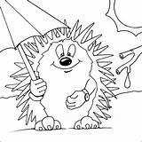Hedgehog Coloring Pages Hedgehogs Printable Drawing Colouring Egel Colour Animals Template Animal Kleurplaten Google Sheets Nl Met Paraplu Kleurplaat Coloringpages101 sketch template