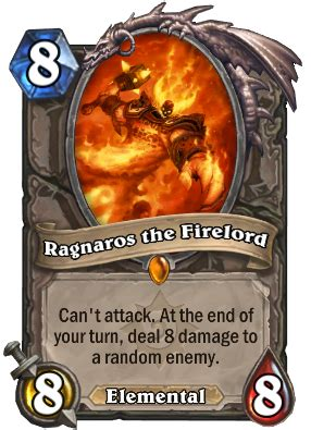Hearthstone Comes To With Knock Set Ragnaros The Firelord Hearthstone Wiki