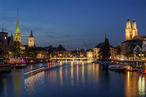 wallpapers zurich switzerland bridges sky night berth