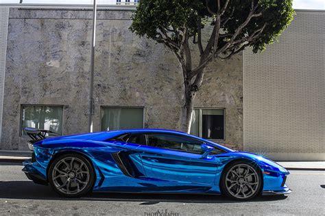 Aventador Blue Chrome Lamborghini Lp700 Supercars Tuning