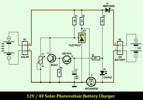 solar photovoltaic battery charger schematic design