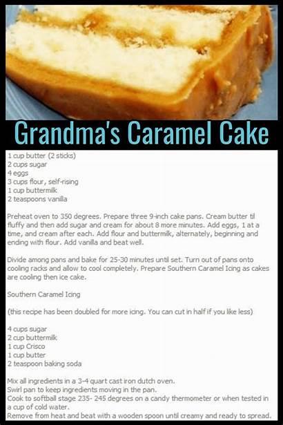Cake Recipes Caramel Recipe Homemade Grandmas Dessert