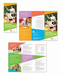 preschool education tri fold brochure template http www With education brochure templates free