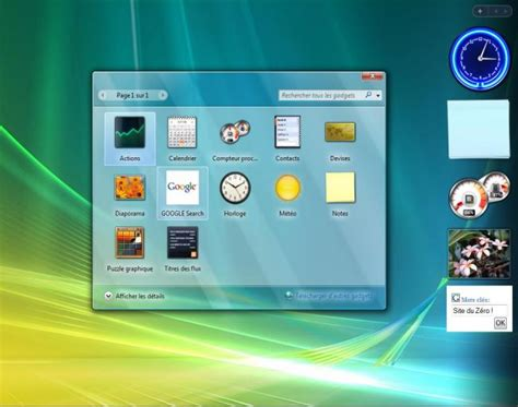 gadget de bureau windows vista actbest