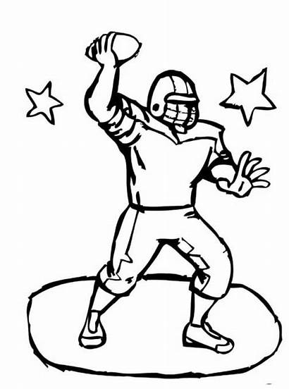 Coloring Pages Football Team Cheerleading Captain Card