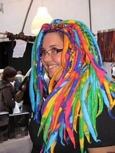 Rainbow dreads wrapped Dreads by Art locs wool dread