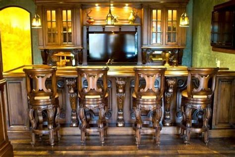Hand Crafted Custom Wood Home Bars And Pubs By Chateau