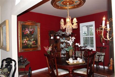 color  red dining room paint project bluebirds