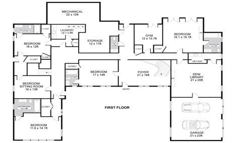 shaped  story house  shaped house plans single story