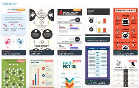 comparison chart template numbers the top 9 infographic template types venngage