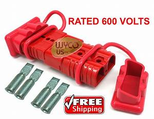 600v Winch Quick Connector Plugs  Disconnect Plugs For 4 Gauge Wire  Dust Covers