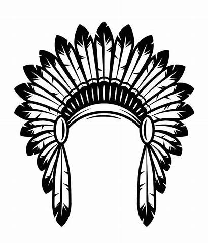 Headdress Indian American Clipart Native Indians Transparent