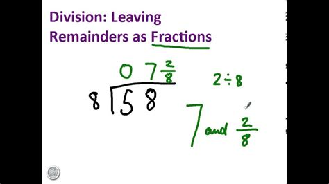 division  remainders  fractions youtube