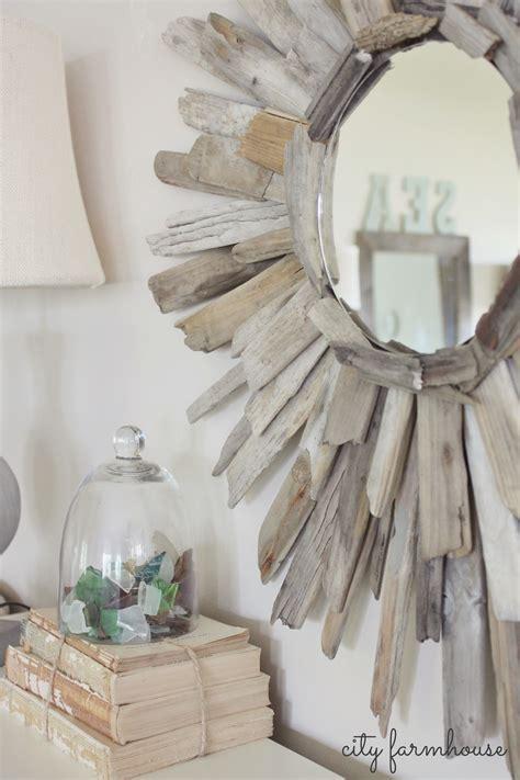 thrifty pretty diy driftwood mirror city farmhouse