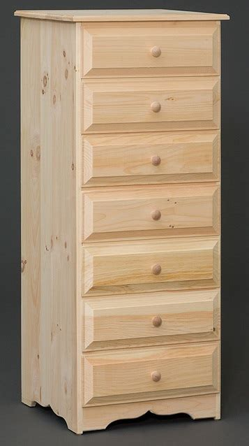 drawer lingerie cabinet stark wood unfinished