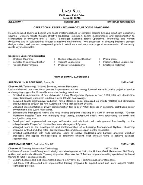 sle resume for retail with no experience