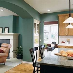 paint colors for living room and kitchen combined With kitchen colors with white cabinets with wall art for apartment