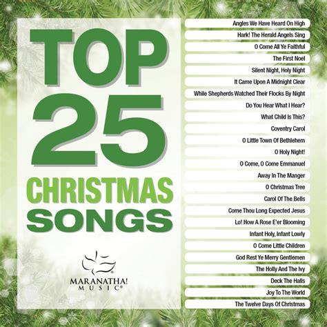 Top 25 Christmas Songs  Maranatha (music) Daywindcom