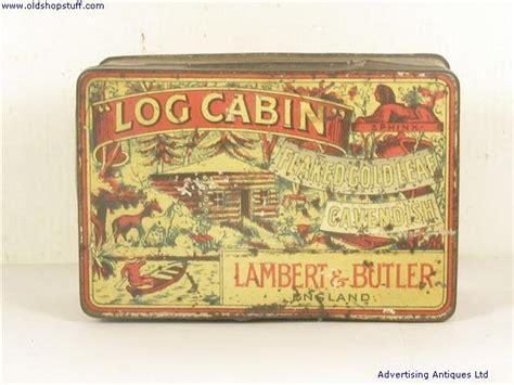 shop stuff  tobacco tin lambert  butlers log