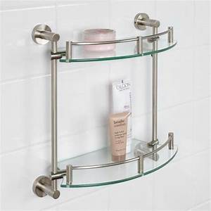 best 25 tempered glass shelves ideas on pinterest With benefits of adding glass bathroom shelves