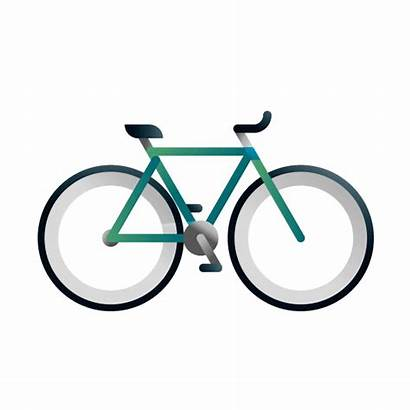 Bikes Animation Around Icons