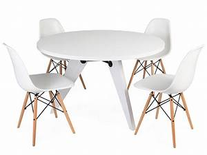 Tisch Mit 4 Stühlen : e tisch prouv rund mit 4 st hlen ~ Frokenaadalensverden.com Haus und Dekorationen