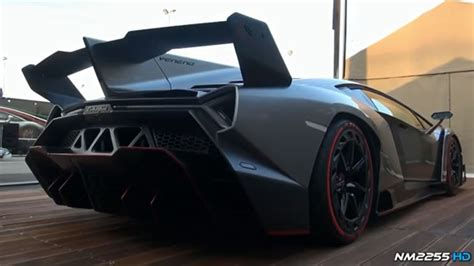 Lamborghini Veneno Revving Its Engine