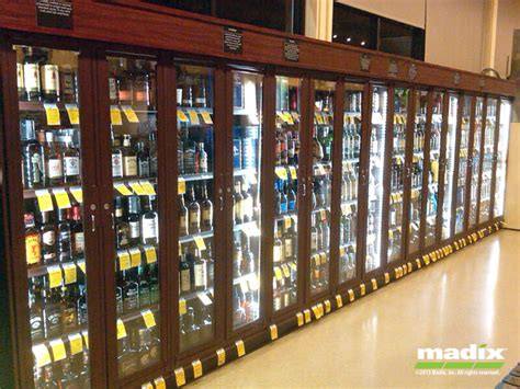 liquor security cabinet gondola lock  system  madix