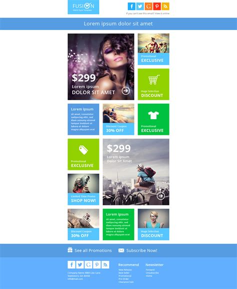 Student Newsletter Templates Free by E Newsletter Templates Best Of Fusion Metro Email Free