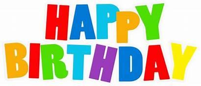 Birthday Happy Clip Clipart Multicolor Transparent Letters