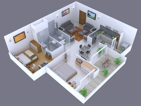 3d House Plans In 1200 Sq Ft - Escortsea
