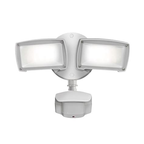 2 head led motion activated flood light shop utilitech pro 180 degree 2 head white led motion