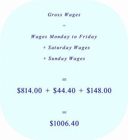 Wages Overtime Basic Pay Gross Calculation Calculating