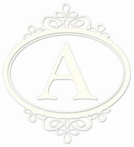 Southampton ivory white monogram kit wall decal