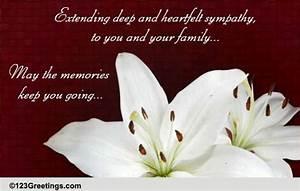 Card For Condolences Deep Heartfelt Sympathy Free Sympathy Condolences