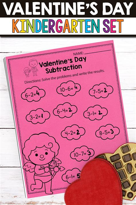 fun valentine worksheets math activities  worksheets