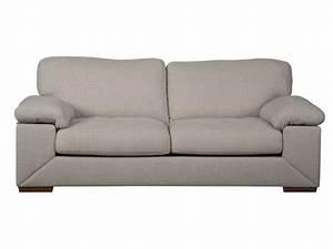 canape fixe 3 places en tissu leia coloris beige vente With tapis de souris personnalisé avec canapé 3 personnes