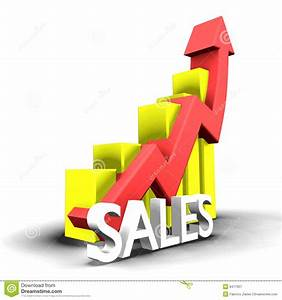 Statistics Graphic With Sales Word Royalty Free Stock ...