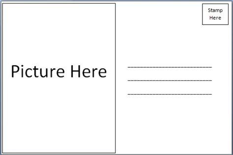 free printable postcard template free postcard templates peerpex