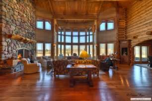 log home interior log home tour whitefish mt estate