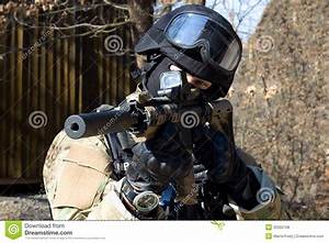 Special Police Unit, Masked Police Stock Photo - Image of ...