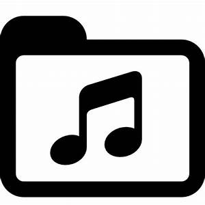 Black and white music folder Icons | Free Download
