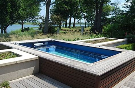 Simple  Ground Lap Pool Rickyhil Outdoor Ideas