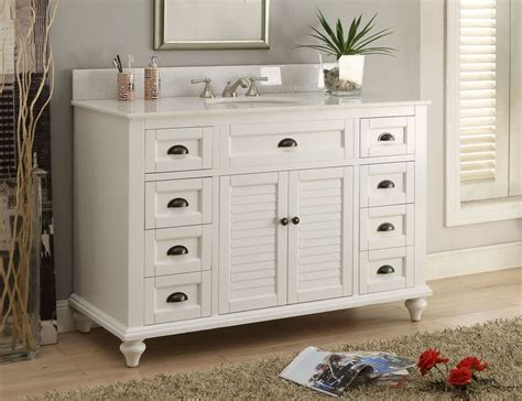 Cottage Style Vanities For Bathrooms by 49 Quot Cottage Style White Glennville Bathrrom Sink Vanity