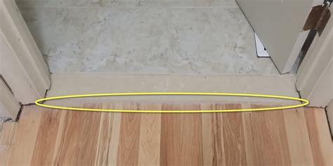 tile  wood transition  door frame flooring diy