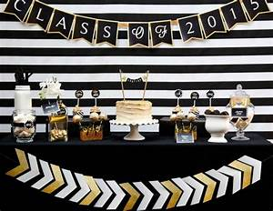 Black and Gold Graduation Party / Graduation/End of School ...