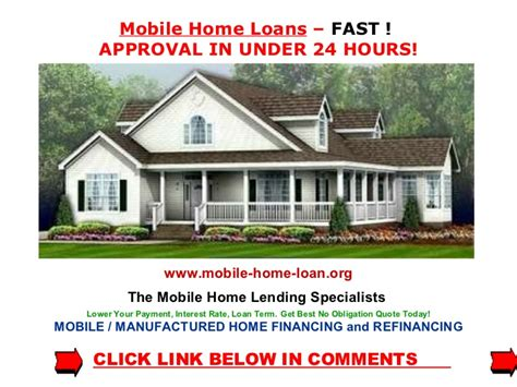 mobile home loan mobile home financing mobile home loans