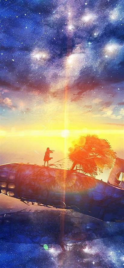 Anime 4k Sunrise Stars Landscape Scenery Portrait